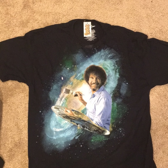 Spencers Shirts Bob Ross Oversized Teelimited Time Sale Poshmark